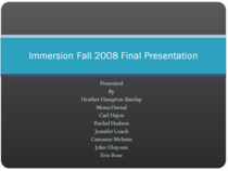 Pic of final presentation cv