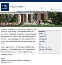 Unr about nevada cv