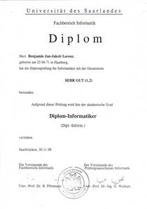 Diplom 1 cv