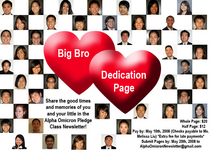 Big bro dedication page flyer copy cv