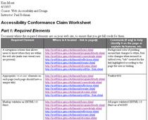 Conformance claim cv