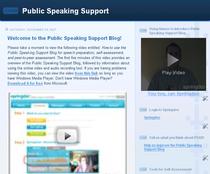 Public speaking cv