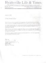 The letter cv
