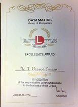 Excellence award cv