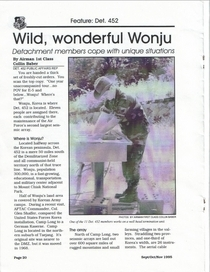 Wild  wonderful wonju p1 cv