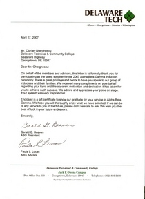 Jerry bivens and paula lucas acknowledgement letter for speak at the abg induction ceremony 2007 jpg document cv