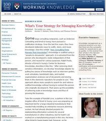 Knowledge strategy cv