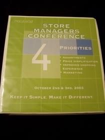 Store manager s conference cv
