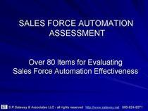 Sales force automation assessment cv