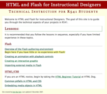 Html flash screen cv