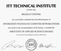 Associate degree cv