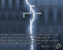 Romans 1.20 cv