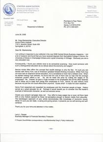 Response letter to executive director cv