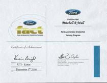 Ford main cert cv