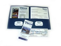 Triad print marketing folder cv