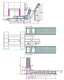 Press material handling drawing cv