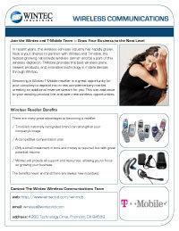 Wintec flyer tmobile cv