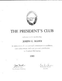 Presidents club cv