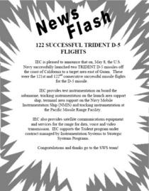 Iec news flash sws trident launch cv