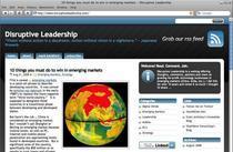 Disruptive leadership blog cv
