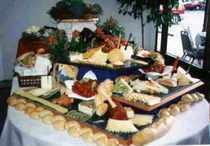 Food table  chesse   veggie display cv