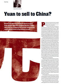 Yuan to sell to china cv