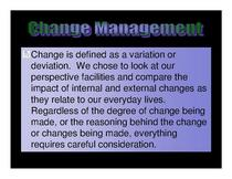 Div change management project 001 cv