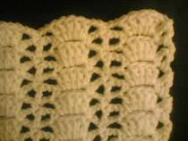 Crochet treble lace cv