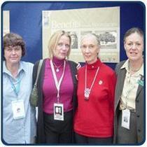 Tess with dr. jane goodall and team cv