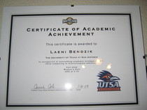 Certificate of academic achievment cv