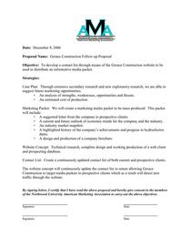 Follow up proposal cv